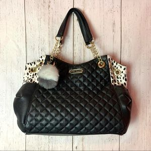Betsey Johnson Black Quilted Bag